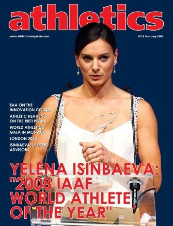 """YELENA ISINBAEVA: """"2008 IAAF WORLD ATHLETE OF THE YEAR"""""""