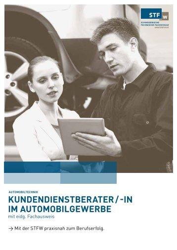 kunDenDienStbeRAteR / -in im AutomobilGeWeRbe - STFW