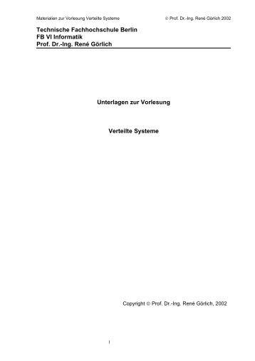 Technische Fachhochschule Berlin - Beuth Hochschule für Technik ...
