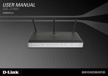 Table of Content D-Link DSL-2740U User Manual 1
