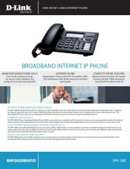 BROADBAND INTERNET IP PHONE - D-Link