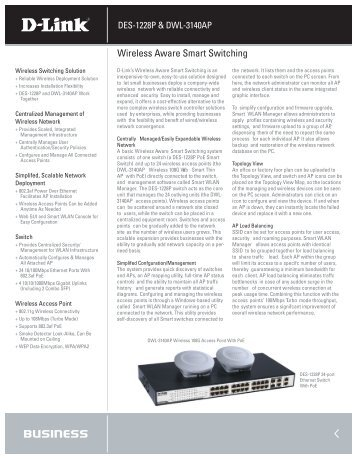 Wireless Aware Smart Switching - D-Link