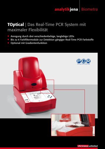 Toptical | Das Real-Time PCR System mit ... - Analytik Jena AG