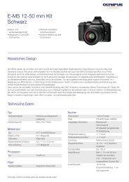 E-M5 12-50 mm Kit Schwarz - Net