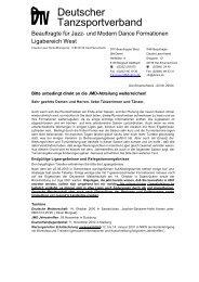 Rundschreiben JMD Vereine - TNW
