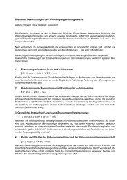 Änderungen im Wohnungseigentumsgesetz ab dem 1.7 ... - Stadtart