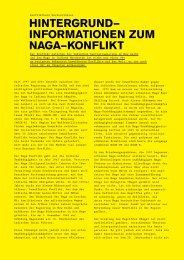 hintergrund– informationen zum naga–konflikt - Museum der Kulturen