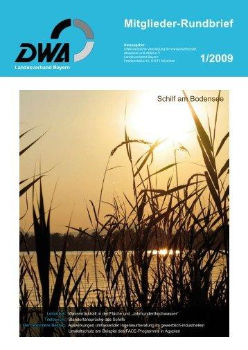 DWA Mitglieder-Rundbrief 01/2009