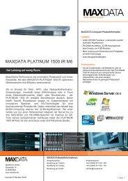 MAXDATA PLATINUM 1500 IR M6
