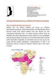 Hintergrundinformationen zu weiblicher Genitalverstümmelung