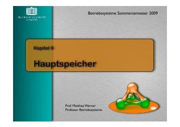 Hauptspeicher - TU Chemnitz, Fakultät für Informatik