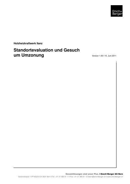 Standortevaluation und Gesuch um Umzonung - Castrisch