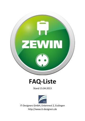 ZEWIN FAQ-Liste - IT-Designers GmbH