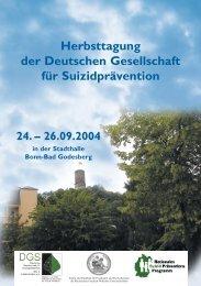 Herbsttagung Suizid - Deutsche Gesellschaft für Suizidprävention