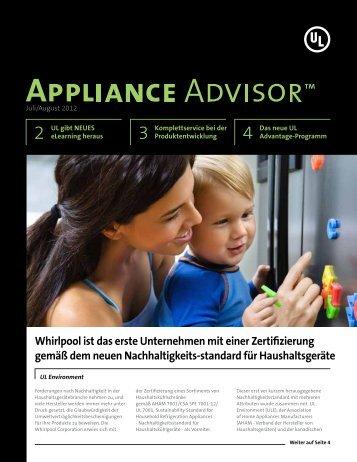 Whirlpool ist das erste Unternehmen mit einer ... - UL.com