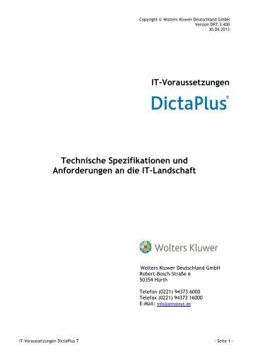 IT_Voraussetzungen_DictaPlus 7 - AnNoText