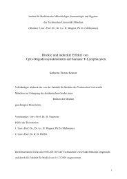 Direkte und indirekte Effekte von CpG-Oligodeoxynukleotiden auf ...