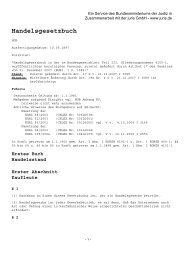 Handelsgesetzbuch - HGB - Krage & Gerloff Logistik GmbH