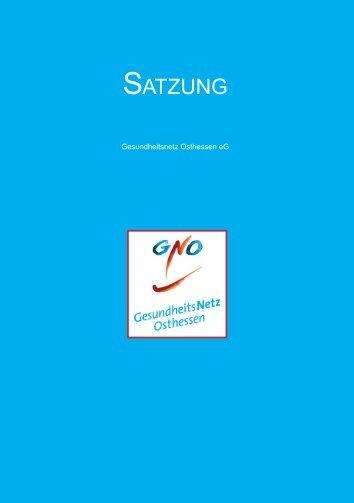 SATZUNG - Gesundheitsnetz Osthessen