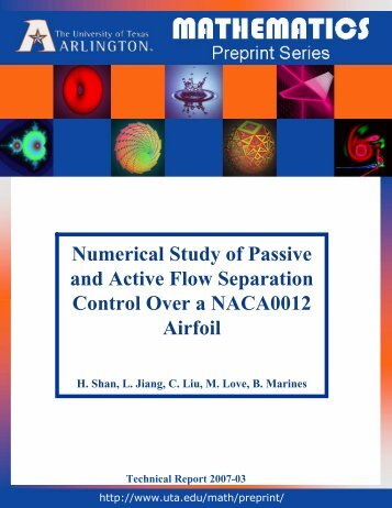 Numerical Study of Passive and Active Flow Separation Control ...