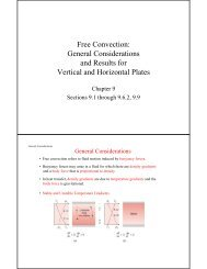 Free Convection: General Considerations and Results for Vertical ...