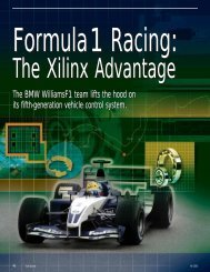 Formula 1 Racing: The Xilinx Advantage