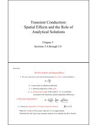 Transient Conduction: Spatial Effects and the Role of Analytical ...