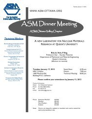 ASM Dinner Meeting ASM Dinner Meeting - Department of ...