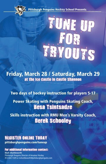 TUNE UP FOR TRYOUTS - Pittsburgh Penguins