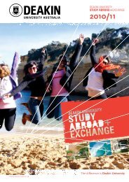 Exchange and Study Abroad Guide - Deakin University