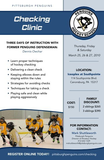 Checking Clinic - Pittsburgh Penguins