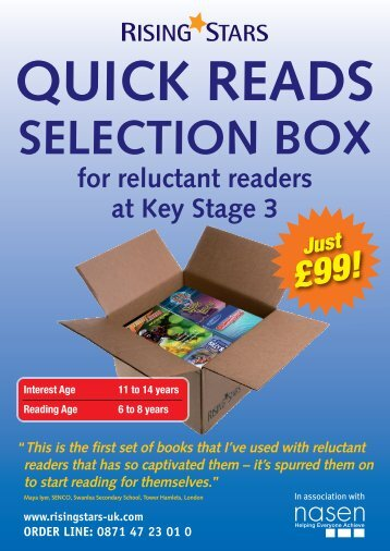 for reluctant readers at Key Stage 3