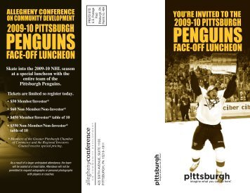 Invitation - Pittsburgh Penguins