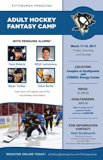 ADULT HOCKEY FANTASY CAMP - Pittsburgh Penguins