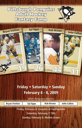 Pittsburgh Penguins Adult Hockey Fantasy Camp