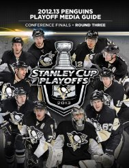 Download the 2012-13 Playoff Media Guide - Pittsburgh Penguins ...
