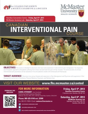 Canadian Interventional Pain - Faculty of Health Sciences ...