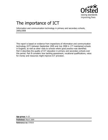 The importance of ICT - Education direct
