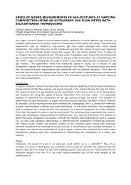 speed of sound measurements in gas-mixtures at varying - Luleå ...