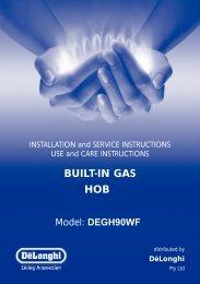 BUILT-IN GAS HOB - Appliances Online