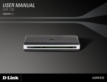 D-Link DIR-130 User Manual i