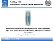ELECTRA-FCC A Swedish R&D centre for Gen-IV systems