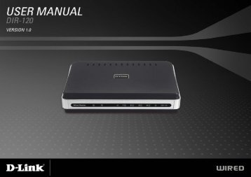 DIR-120 Ethernet Broadband Router - D-Link
