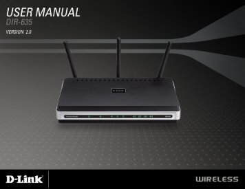 Product Manual - D-Link
