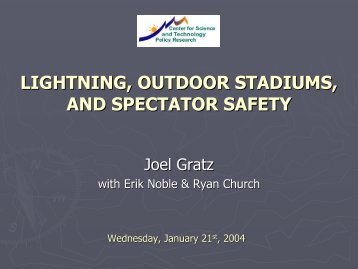 lightning, outdoor stadiums, and spectator safety - Center for ...