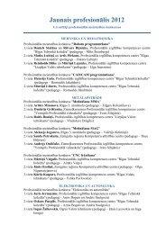 Uzvarētāji profesionālās meistarības konkursos - Valsts izglītības ...