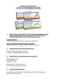 GEBRAUCHSINFORMATION Previcox 57 mg Kautabletten ... - Merial