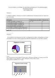 tests de mathématiques d'entrée en seconde - Claude Rochet