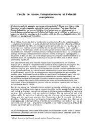 L'école de masse, l'adaptationnisme et l'identité ... - Claude Rochet