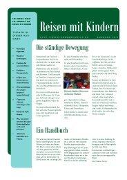 Handbuch Reisen mit Kindern - Hudson Family